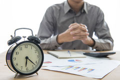 Business people working overtime Royalty Free Stock Photography