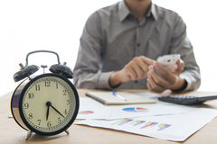 Business people working overtime Stock Image