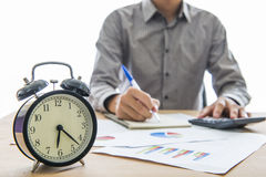 Business people working overtime Stock Photography