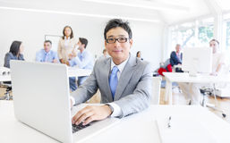 Business People in Working Place Stock Photo