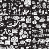 Business people working seamless pattern black and white Royalty Free Stock Images
