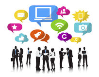 Business People Working and Social Networking Stock Photography