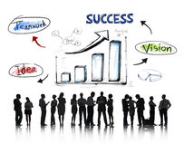 Business People Working and Success Concept Stock Photos