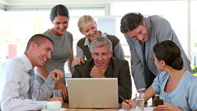 Business people working on tablet computer stock footage