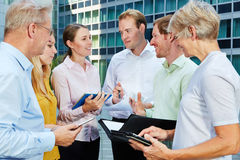 Business people working with tablet PC Royalty Free Stock Images