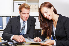 Business people working with tablet Stock Photography