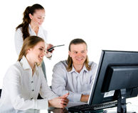 Business people working in team Stock Images