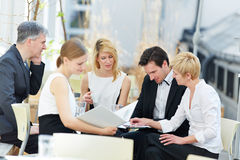 Business people working in team Stock Image