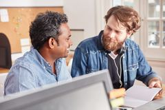 Business people working in teamwork. In coworking business office Stock Photography