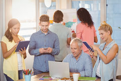 Business people working with technologies Royalty Free Stock Image