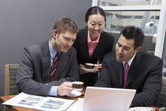 Business People Working During Their Break Time Stock Photos