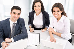 Business people working on their business project Royalty Free Stock Images
