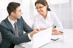 Business people working on their business project Royalty Free Stock Photo