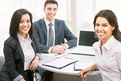 Business people working on their business project Stock Photography