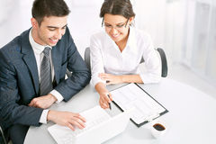 Business people working on their business project Royalty Free Stock Photography