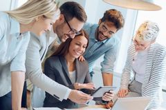 Business people working together as a team Stock Photo