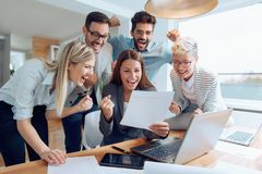 Business people working together as a team stock images