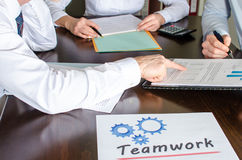 Business people working together Royalty Free Stock Images