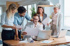 Business people working together as a team Stock Photos