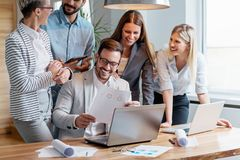 Business people working together as a team Royalty Free Stock Image