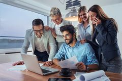 Business people working together as a team royalty free stock photos