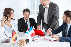 Business people working together. The business people working together at table. The meeting or summit concept Stock Photo