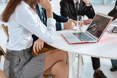 Business people working together. The business people working together at table. The meeting or summit concept Royalty Free Stock Photos