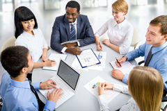 Business people working together. royalty free stock images