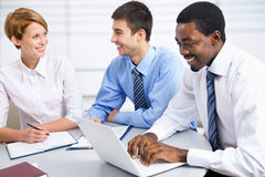 Business people working together. Royalty Free Stock Photos