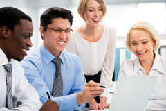 Business people working together. Royalty Free Stock Photo