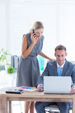 Business people working together on laptop. In the office Stock Image