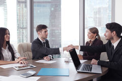 Business people working together at a meeting Stock Photos