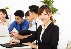 business people working together at  meeting Stock Image
