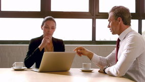 Business people working together. In the office stock video footage