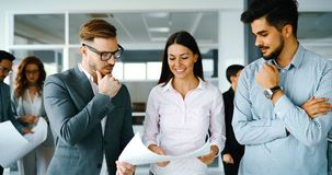 Business people working together on project Stock Image
