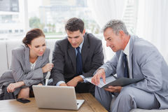 Business people working together on their laptop Royalty Free Stock Photography