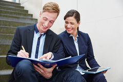 Business people working together on Royalty Free Stock Photo