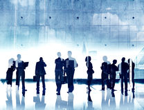Business People Working and Urban Scene.  stock photo