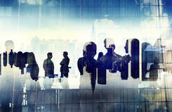 Business People Working and Urban Scene Stock Image