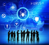 Business People Working and Virus Concepts Royalty Free Stock Image