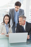 Business people working well together Stock Photography