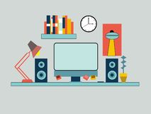 Business People Workplace Desk vector royalty free illustration