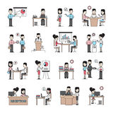 Business People Workplace Icons Set Stock Image