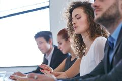 Business people at workshop royalty free stock photography