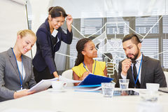 Business people in business workshop Royalty Free Stock Image