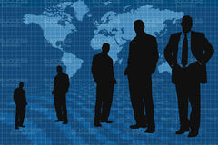 Business people and world map Stock Image