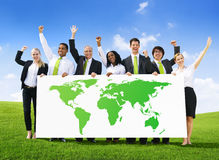 Business People with World Success Royalty Free Stock Images