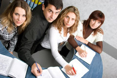 Business people writing notes Royalty Free Stock Photo