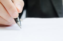 Business people writing the pen Stock Photo