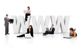 Business people with WWW Stock Image